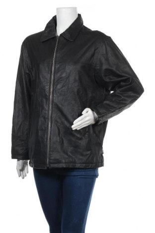 Дамско кожено яке, Размер L, Цвят Черен, Естествена кожа, Цена 18,84лв.