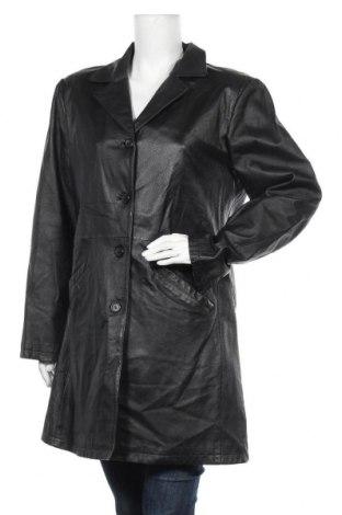 Дамско кожено яке, Размер XL, Цвят Черен, Естествена кожа, Цена 59,38лв.