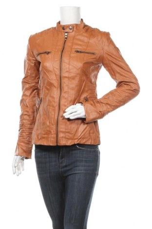 Дамско кожено яке, Размер S, Цвят Кафяв, Еко кожа, Цена 35,28лв.