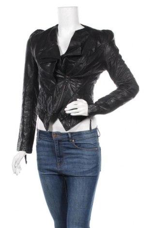 Γυναικείο δερμάτινο μπουφάν, Μέγεθος S, Χρώμα Μαύρο, Δερματίνη, Τιμή 18,15€