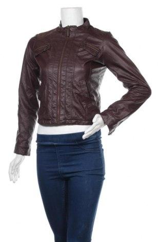 Дамско кожено яке, Размер M, Цвят Лилав, Еко кожа, Цена 9,90лв.