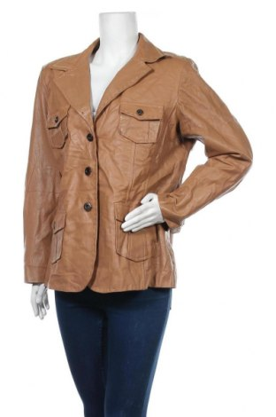 Γυναικείο δερμάτινο μπουφάν, Μέγεθος XL, Χρώμα Καφέ, Γνήσιο δέρμα, Τιμή 53,19€