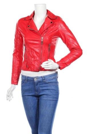 Дамско кожено яке, Размер S, Цвят Червен, Еко кожа, Цена 39,27лв.