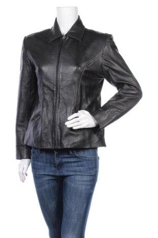 Γυναικείο δερμάτινο μπουφάν, Μέγεθος M, Χρώμα Μαύρο, Δερματίνη, Τιμή 8,41€