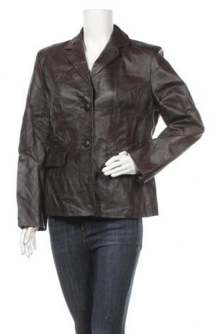 Дамско кожено яке Authentic Style, Размер L, Цвят Кафяв, Естествена кожа, Цена 53,24лв.