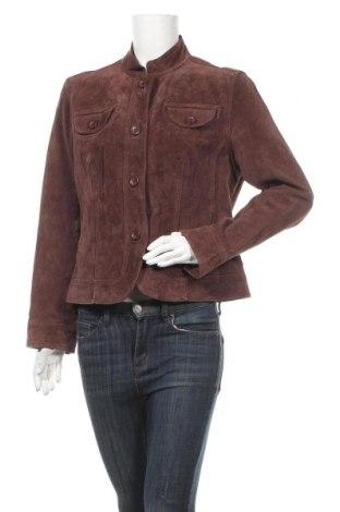 Дамско кожено яке B.u.m. Equipment, Размер L, Цвят Кафяв, Естествен велур, Цена 13,96лв.