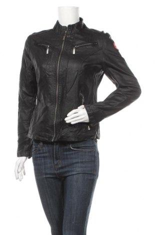 Дамско кожено яке Bleifrei, Размер M, Цвят Черен, Еко кожа, Цена 41,90лв.
