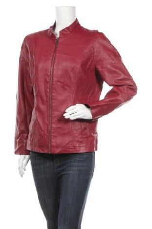 Γυναικείο δερμάτινο μπουφάν Christopher & Banks, Μέγεθος L, Χρώμα Κόκκινο, Δερματίνη, Τιμή 15,46€