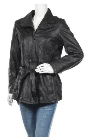 Γυναικείο δερμάτινο μπουφάν Conbipel, Μέγεθος XXL, Χρώμα Μαύρο, Γνήσιο δέρμα, Τιμή 48,13€