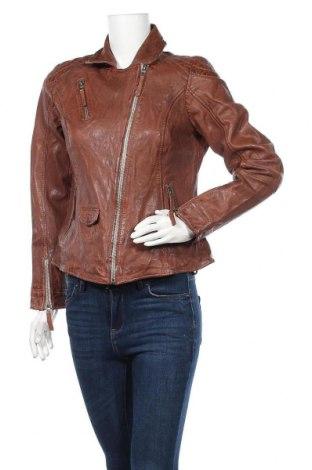 Γυναικείο δερμάτινο μπουφάν Freaky Nation, Μέγεθος XL, Χρώμα Πορτοκαλί, Γνήσιο δέρμα, Τιμή 123,32€