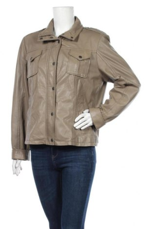 Дамско кожено яке Gipsy, Размер XL, Цвят Сив, Естествена кожа, Цена 84,53лв.