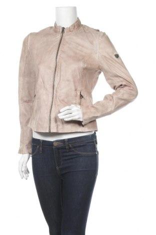Дамско кожено яке Gipsy, Размер M, Цвят Бежов, Естествена кожа, Цена 143,60лв.