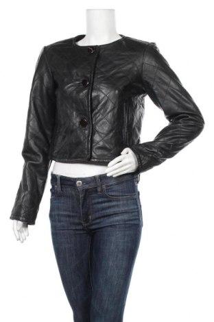 Дамско кожено яке Gosha By Vero Moda, Размер L, Цвят Черен, Естествена кожа, Цена 32,13лв.