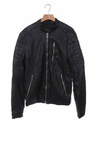 Дамско кожено яке H&M, Размер XS, Цвят Черен, Еко кожа, Цена 25,83лв.