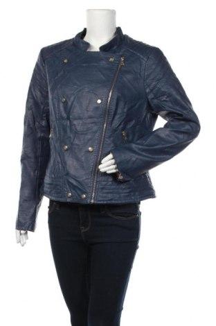 Дамско кожено яке Jessica Simpson, Размер XL, Цвят Син, Еко кожа, Цена 41,90лв.