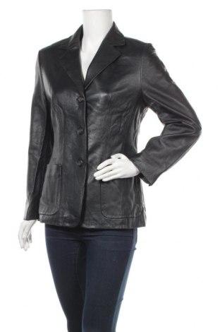 Дамско кожено яке Jobis, Размер M, Цвят Черен, Естествена кожа, Цена 53,24лв.