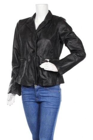 Γυναικείο δερμάτινο μπουφάν Kaporal, Μέγεθος L, Χρώμα Μαύρο, Γνήσιο δέρμα, Τιμή 61,24€