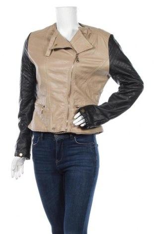 Дамско кожено яке L Mode, Размер XL, Цвят Бежов, Еко кожа, Цена 16,17лв.