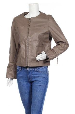 Дамско кожено яке Le Phare De La Baleine, Размер L, Цвят Сив, Естествена кожа, Цена 231,75лв.