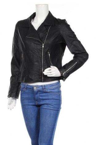 Дамско кожено яке Lily Loves, Размер M, Цвят Черен, Еко кожа, Цена 36,12лв.