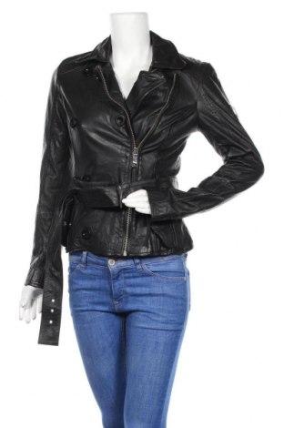 Дамско кожено яке Maze, Размер S, Цвят Черен, Естествена кожа, Цена 247,05лв.