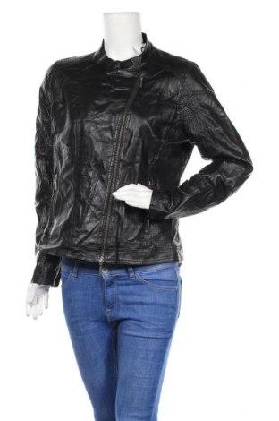 Γυναικείο δερμάτινο μπουφάν More & More, Μέγεθος L, Χρώμα Μαύρο, Δερματίνη, Τιμή 22,21€
