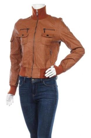 Дамско кожено яке Muse, Размер M, Цвят Кафяв, Еко кожа, Цена 34,55лв.