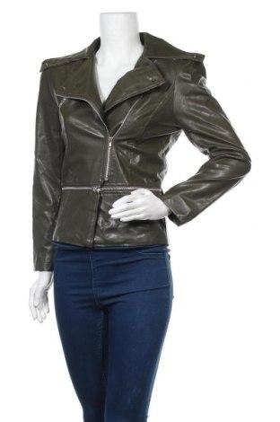 Дамско кожено яке New Light, Размер S, Цвят Зелен, Еко кожа, Цена 11,03лв.