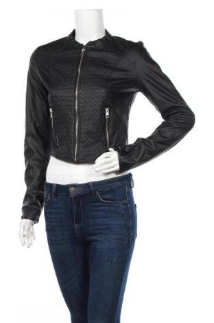 Дамско кожено яке New Look, Размер M, Цвят Черен, Еко кожа, Цена 26,46лв.