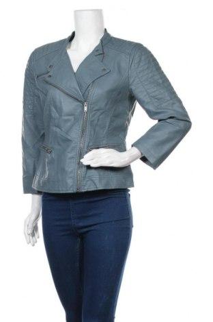 Дамско кожено яке ONLY, Размер M, Цвят Син, Еко кожа, Цена 20,79лв.