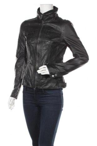 Дамско кожено яке ONLY, Размер M, Цвят Черен, Еко кожа, Цена 39,69лв.
