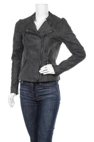 Дамско кожено яке ONLY, Размер S, Цвят Сив, Еко кожа, Цена 47,88лв.