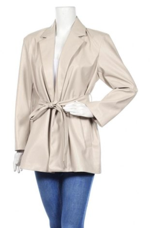 Дамско кожено яке ONLY, Размер S, Цвят Бежов, Еко кожа, Цена 34,00лв.