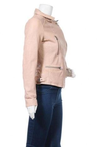 Дамско кожено яке Oakwood, Размер S, Цвят Розов, Естествена кожа, Цена 167,27лв.