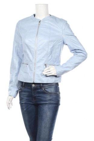 Γυναικείο δερμάτινο μπουφάν Orsay, Μέγεθος L, Χρώμα Μπλέ, Δερματίνη, Τιμή 19,55€
