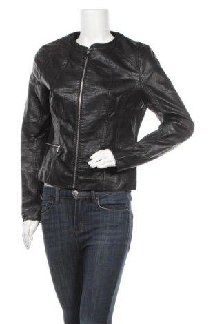 Дамско кожено яке Orsay, Размер L, Цвят Черен, Еко кожа, Цена 32,13лв.