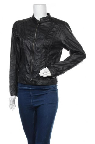 Дамско кожено яке Project Unknown, Размер L, Цвят Черен, Еко кожа, Цена 44,10лв.