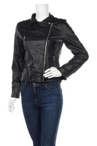 Дамско кожено яке Shinestar, Размер M, Цвят Черен, Еко кожа, Цена 36,23лв.