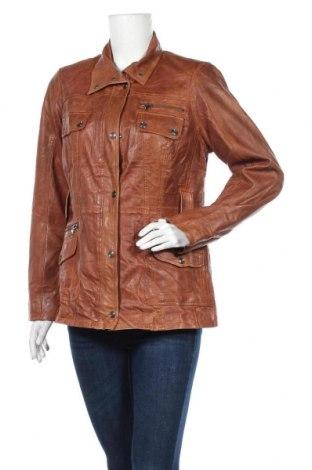 Дамско кожено яке TCM, Размер M, Цвят Кафяв, Естествена кожа, Цена 23,89лв.