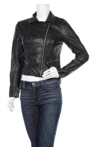 Дамско кожено яке Tally Weijl, Размер M, Цвят Черен, Еко кожа, Цена 29,14лв.