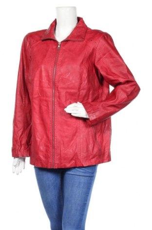 Дамско кожено яке Thea Plus, Размер XL, Цвят Червен, Еко кожа, Цена 36,59лв.