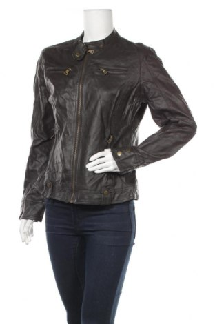 Дамско кожено яке Up 2 Fashion, Размер M, Цвят Кафяв, Еко кожа, Цена 44,89лв.