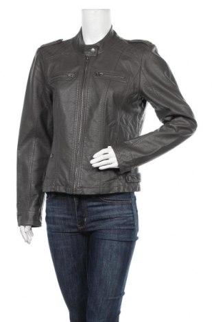 Дамско кожено яке Vero Moda, Размер XL, Цвят Сив, Еко кожа, Цена 35,91лв.