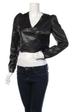 Дамско кожено яке Who What Wear, Размер S, Цвят Черен, Еко кожа, Цена 17,92лв.