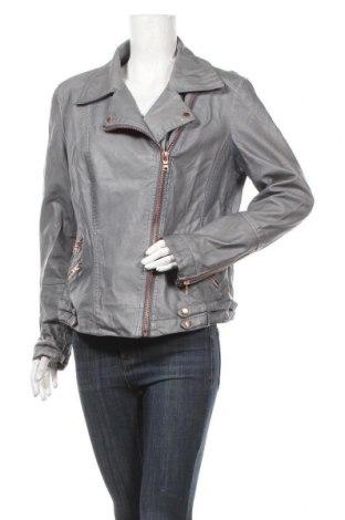 Дамско кожено яке Woman By Tchibo, Размер XL, Цвят Син, Еко кожа, Цена 45,89лв.