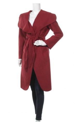 Дамско палто, Размер M, Цвят Червен, 65% вълна, 30% полиестер, 5% еластан, Цена 39,20лв.