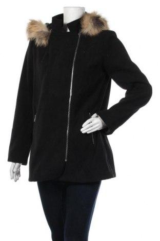 Дамско палто, Размер XL, Цвят Черен, 80% полиестер, 20% вискоза, Цена 30,36лв.