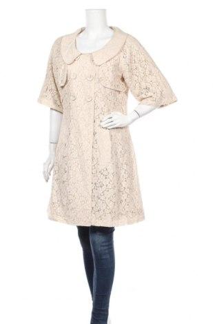 Дамско палто, Размер M, Цвят Бежов, Цена 24,26лв.