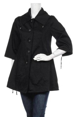 Дамско палто, Размер M, Цвят Черен, 97% памук, 3% еластан, Цена 32,34лв.