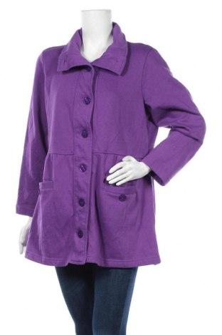 Дамско палто, Размер M, Цвят Лилав, 60% памук, 40% полиестер, Цена 8,82лв.